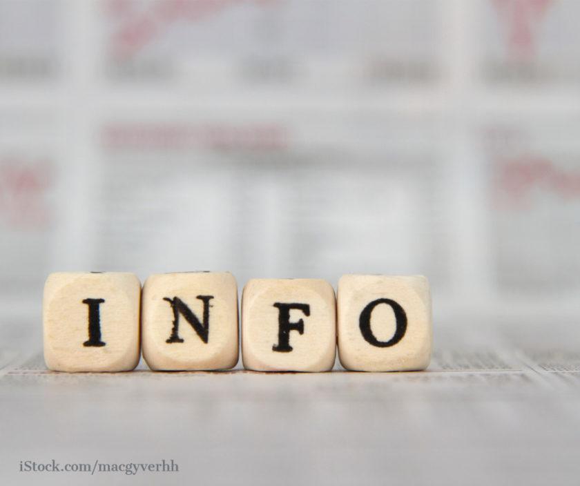Würfel mit der Aufschrift Info