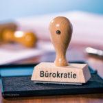 Stempel mit der Aufschrift Buerokratieabbau