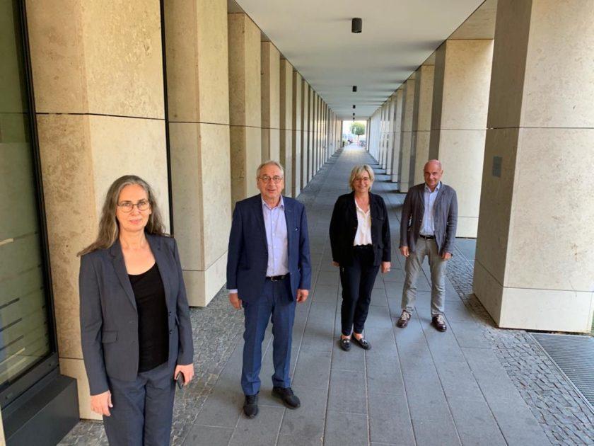 Vier Vorsitzende der Physio-Verbaende