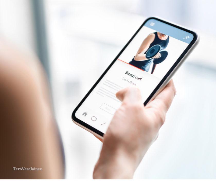 Smartphone mit Gesundheitsapp