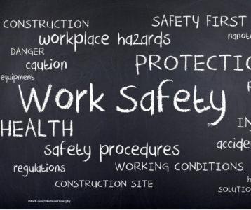 Schriftzug Work Safety